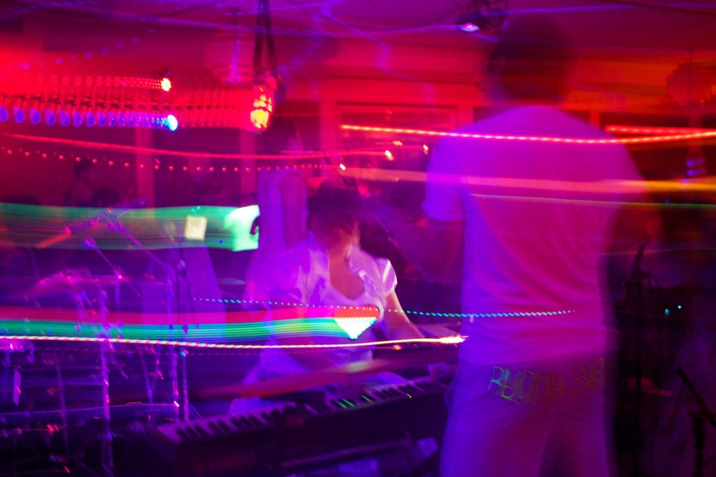 Live-electronic at the Dance Flurry, Saratoga Springs NY, 2015. Photo by Ryan Carollo.